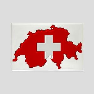 """Pixel Switzerland"" Rectangle Magnet"