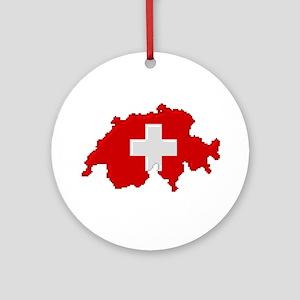 """""""Pixel Switzerland"""" Ornament (Round)"""