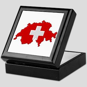 """Pixel Switzerland"" Keepsake Box"