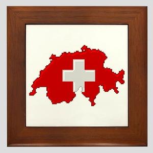 """Pixel Switzerland"" Framed Tile"