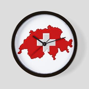 """Pixel Switzerland"" Wall Clock"