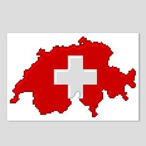 """""""Pixel Switzerland"""" Postcards (Package of 8)"""