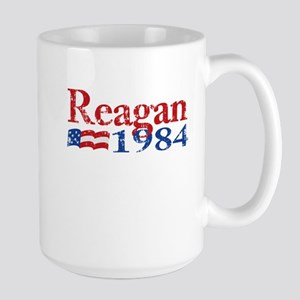 Reagan 1984 -Distressed Logo Large Mug