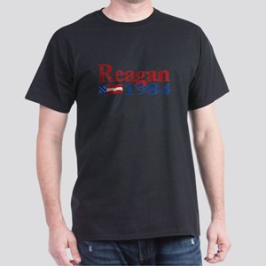 Reagan 1984 -Distressed Logo Dark T-Shirt