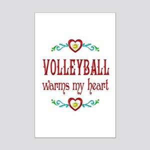 Volleyball Warms My Heart Mini Poster Print
