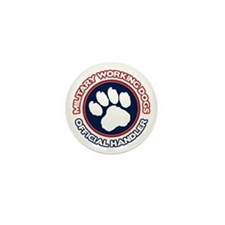 Military Working Dogs Mini Button