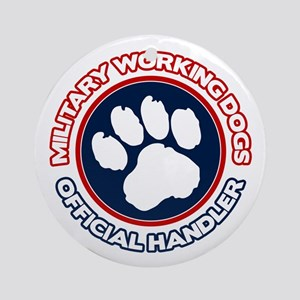 Military Working Dogs Ornament (Round)