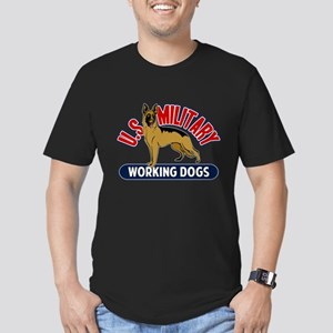 Military Working Dogs Men's Fitted T-Shirt (dark)