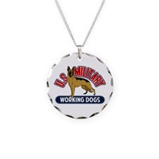 Military Working Dogs Necklace Circle Charm