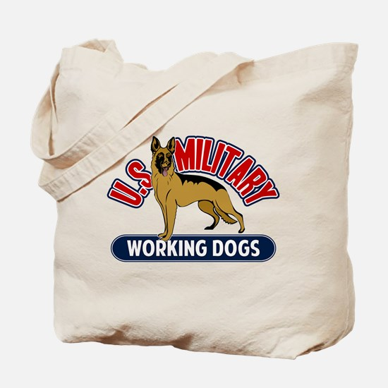 Military Working Dogs Tote Bag