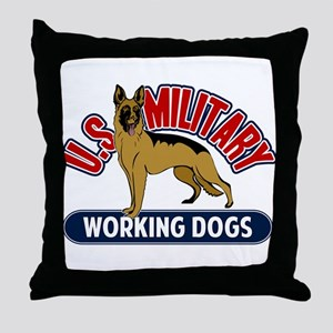 Military Working Dogs Throw Pillow