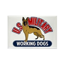 Military Working Dogs Rectangle Magnet