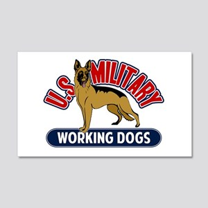 Military Working Dogs 22x14 Wall Peel