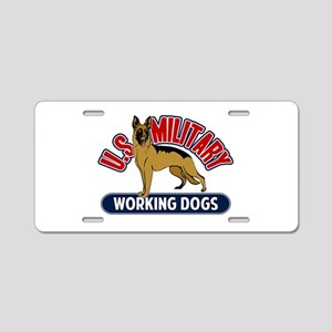 Military Working Dogs Aluminum License Plate