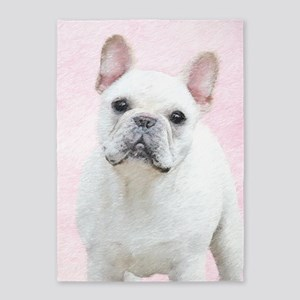 French Bulldog (Cream/White) 5'x7'Area Rug