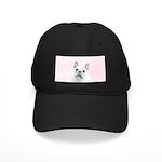 French Bulldog (Cream/White) Black Cap with Patch