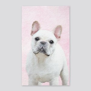 French Bulldog (Cream/White) Area Rug