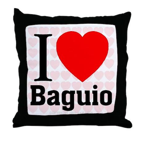 I Love Baguio Throw Pillow