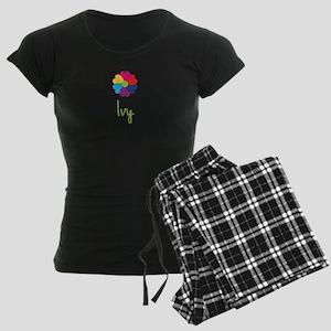 Ivy Valentine Flower Women's Dark Pajamas