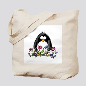 Garden penguin Tote Bag