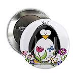 Garden penguin Button