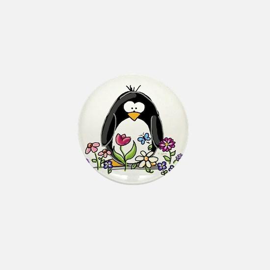 Garden penguin Mini Button