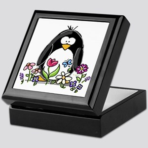 Garden penguin Keepsake Box