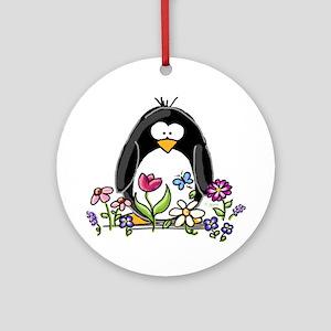 Garden penguin Ornament (Round)