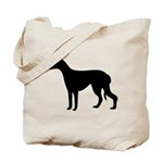 Greyhound Silhouette Tote Bag