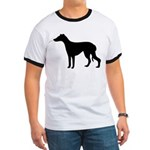 Greyhound Silhouette Ringer T