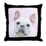 French Bulldog (Cream/White) Throw Pillow
