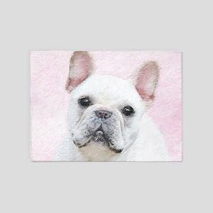 French Bulldog (Cream/White) 5'x7'Area Rug