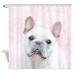 French Bulldog (Cream/White) Shower Curtain