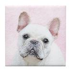 French Bulldog (Cream/White) Tile Coaster