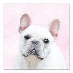 French Bulldog (Cream/Wh Square Car Magnet 3