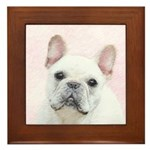French Bulldog (Cream/White) Framed Tile
