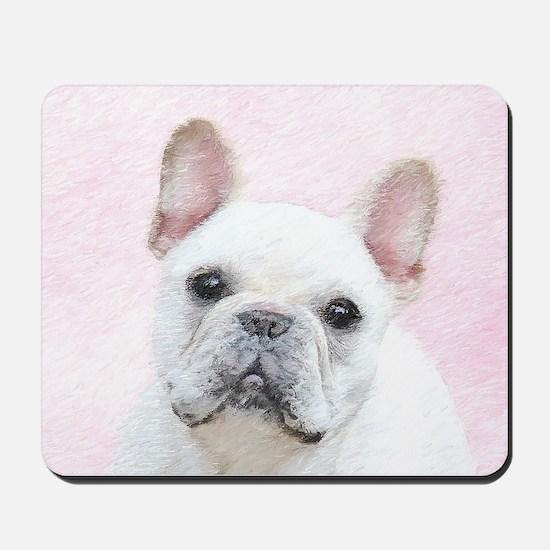 French Bulldog (Cream/White) Mousepad