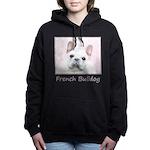 French Bulldog (Cream/Wh Women's Hooded Sweatshirt