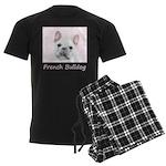 French Bulldog (Cream/White) Men's Dark Pajamas