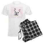 French Bulldog (Cream/White) Men's Light Pajamas