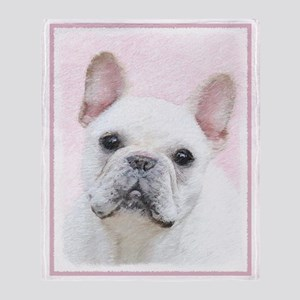 French Bulldog (Cream/White) Throw Blanket
