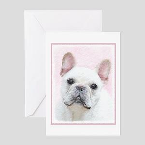 French Bulldog (Cream/White) Greeting Card