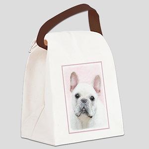 French Bulldog (Cream/White) Canvas Lunch Bag