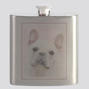 French Bulldog (Cream/White) Flask
