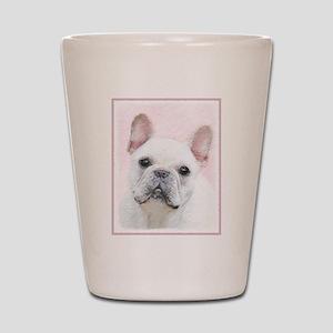 French Bulldog (Cream/White) Shot Glass