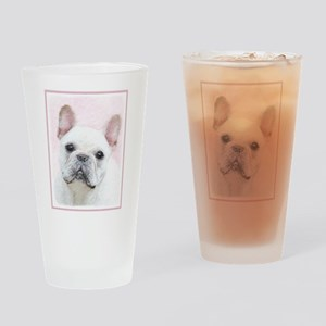 French Bulldog (Cream/White) Drinking Glass