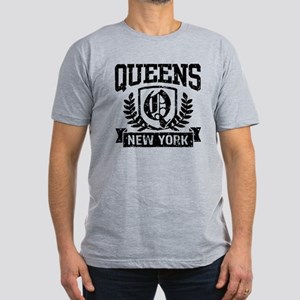 Queens NY Men's Fitted T-Shirt (dark)