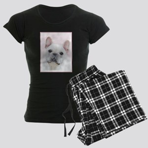 French Bulldog (Cream/White) Women's Dark Pajamas