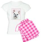 French Bulldog (Cream/White Women's Light Pajamas