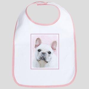 French Bulldog (Cream/White) Cotton Baby Bib